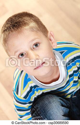 Little boy child portrait - csp30689590