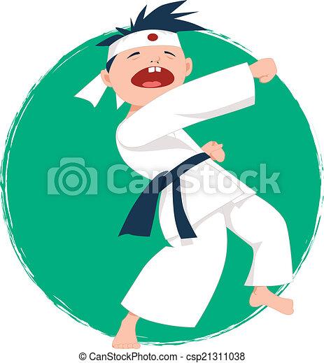 Little boy doing karate - csp21311038