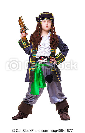 Little boy dressed as medieval pirate - csp40641677