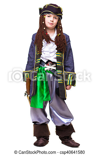 Little boy dressed as medieval pirate - csp40641580