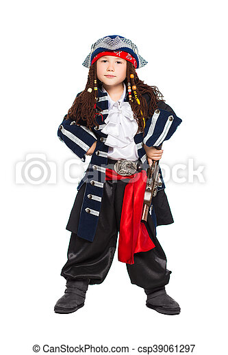 Little boy dressed as medieval pirate - csp39061297