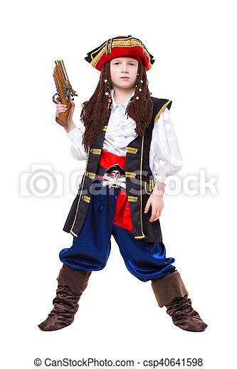 Little boy dressed as medieval pirate - csp40641598