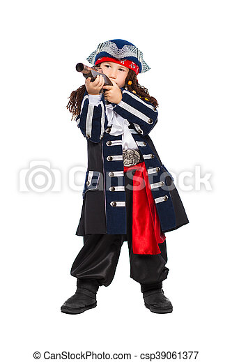 Little boy dressed as pirate - csp39061377