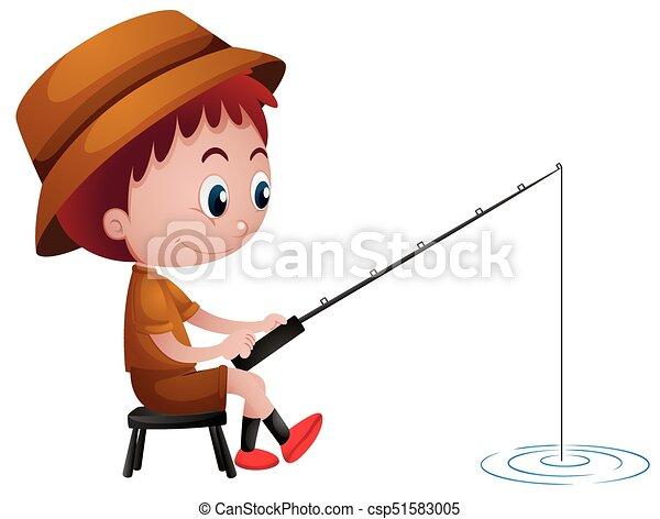little boy fishing alone illustration rh canstockphoto com little boy fishing clipart Little Boy Fishing Cartoon