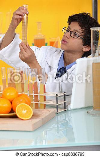 little boy in a lab - csp8838793