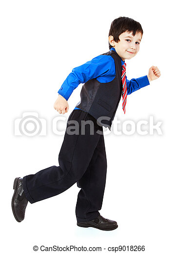 little boy in suit - csp9018266