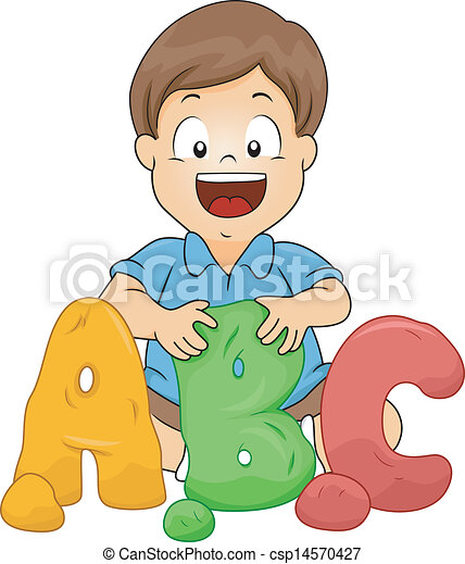 little boy molding abc letters from clay illustration of a rh canstockphoto com playdough clipart free play doh clipart