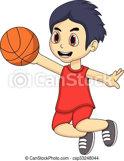 Little boy playing basketball - csp33248044