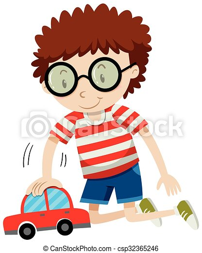 little boy playing with toy car illustration eps vector search rh canstockphoto com little boy clipart black and white clipart little boy pictures