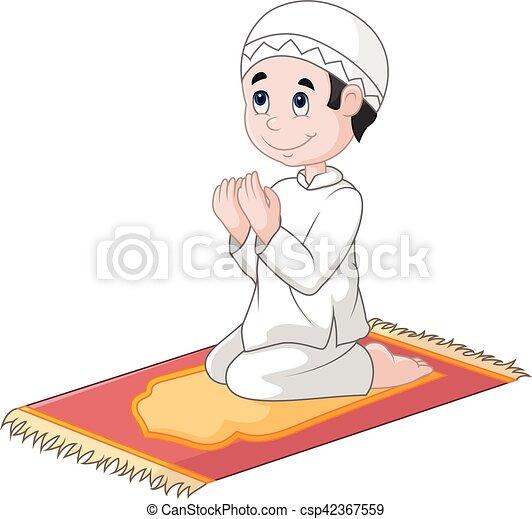 vector illustration of little boy praying rh canstockphoto com little boy praying clipart little boy praying clipart