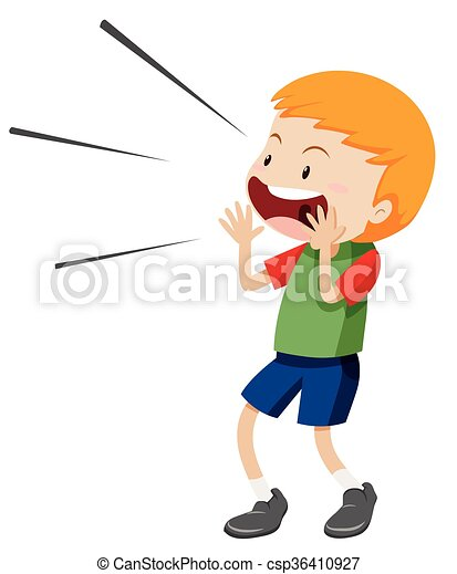 little boy shouting out illustration vector illustration search rh canstockphoto com clipart little boy and girl clipart little boy sleeping