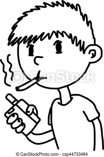 little boy smoking cigarette illustration vector doodle vector rh canstockphoto com stop smoking clip art smoking clip art images