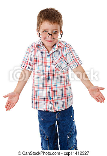Little boy that shrugging aside - csp11412327