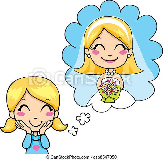 Little Bride Dream - csp8547050