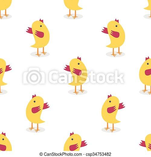 Little Chickens Seamless Pattern
