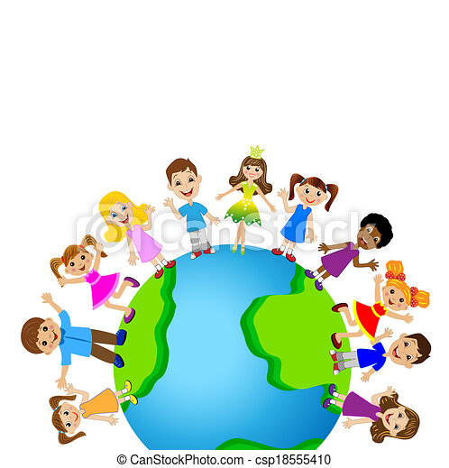 little child on planet earth - csp18555410