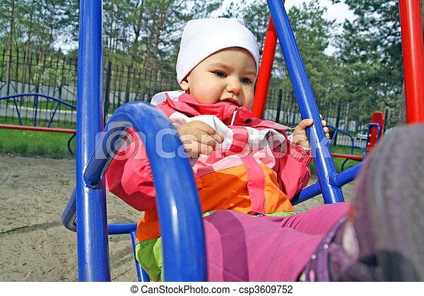 Little Child Swinging - csp3609752