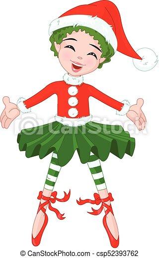 Little Christmas Ballerina - csp52393762