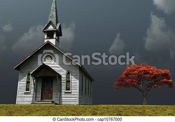 Little Church on the Prarie - csp10767000