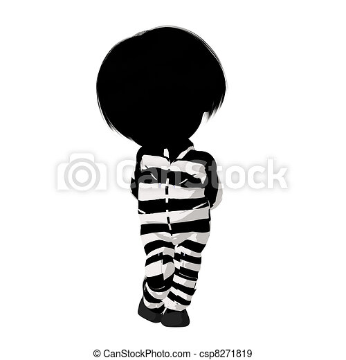 Little Criminal Girl Illustration - csp8271819