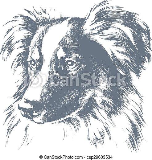 Little dog vector sketch - csp29603534