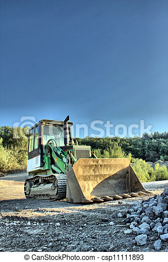 little excavator as hdr picture - csp11111893