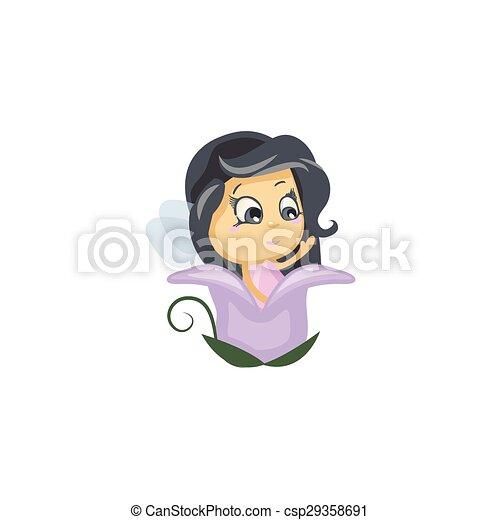 Little Fairy in a Flower Bud - csp29358691