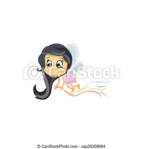 Little Fairy of Colors - csp29358684