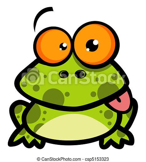 Little Frog Cartoon Character - csp5153323