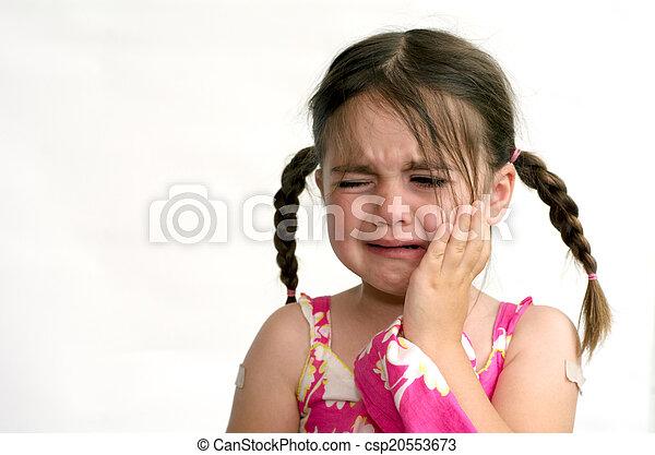 Little girl cry - csp20553673
