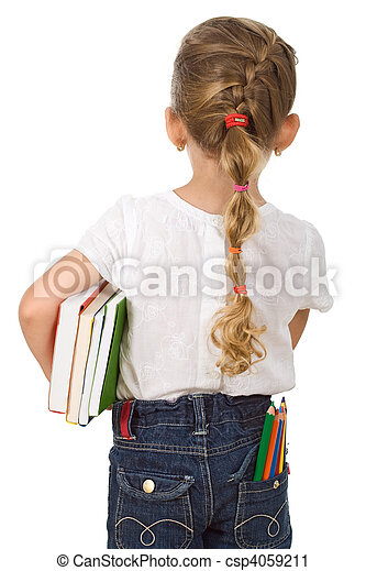 Little girl going back to school - csp4059211
