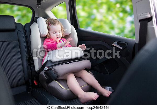 Little girl in car seat - csp24542446