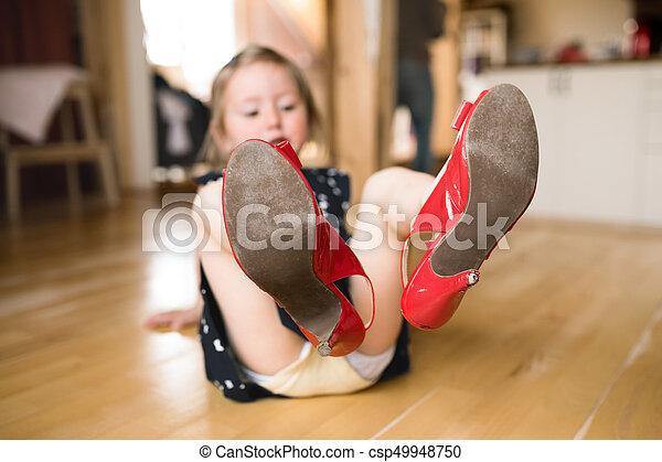 Heels girl in Girl in