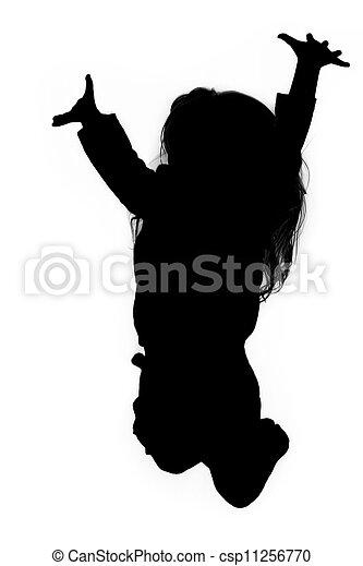 bcd67fc0 Little girl jumping.