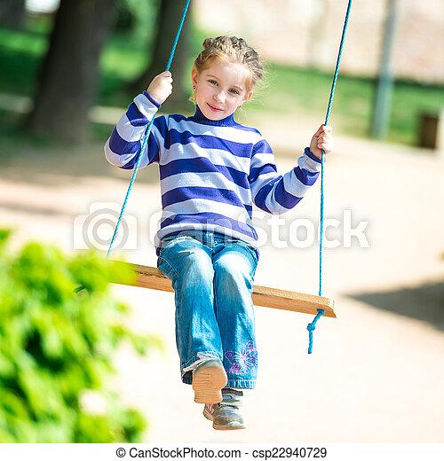 little girl on swing - csp22940729