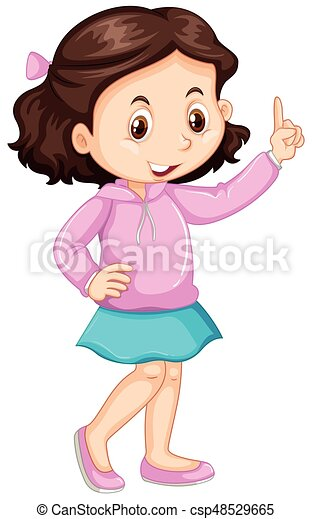 little girl pointing up the finger illustration clip art vector rh canstockphoto com painting clip art pictures painting clip art black and white