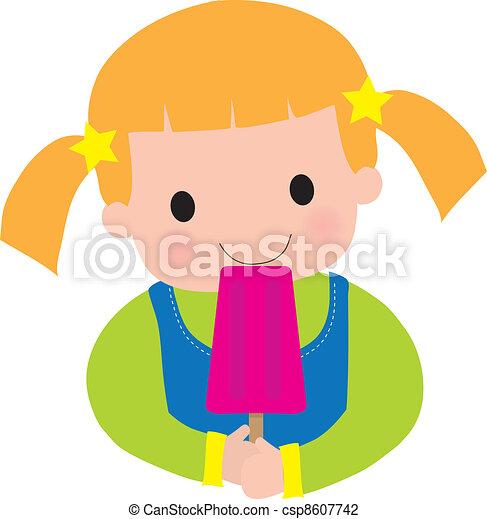 Little Girl Popsicle - csp8607742