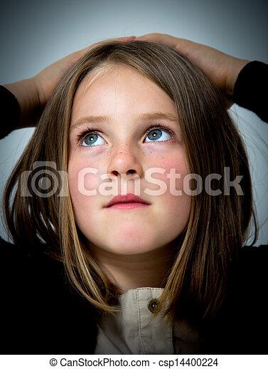 little girl portrait - csp14400224