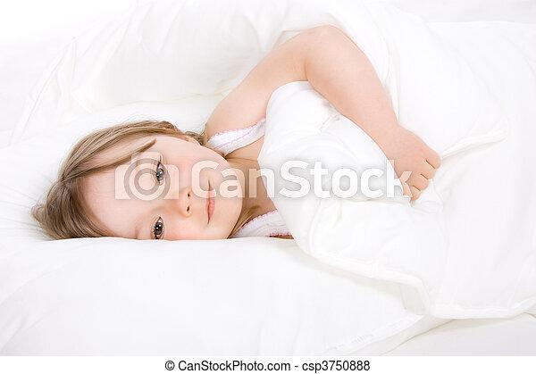 little girl sleeping - csp3750888