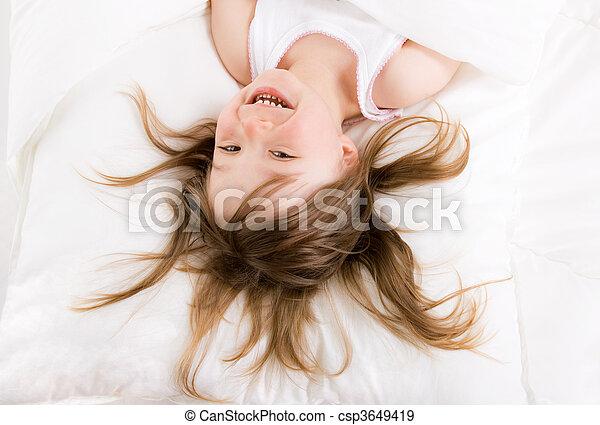 little girl sleeping - csp3649419