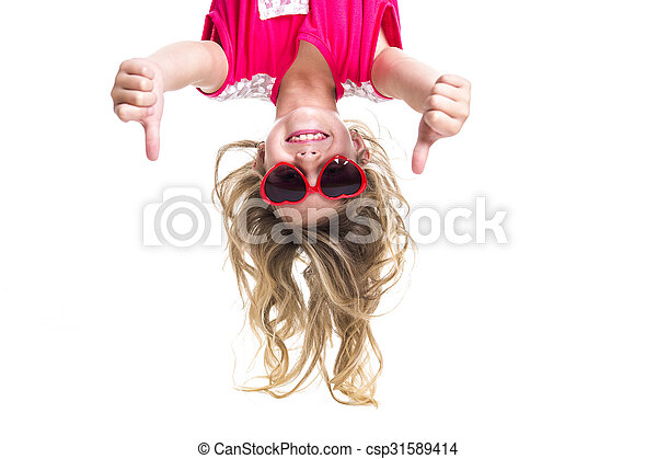 Little girl upside down - csp31589414