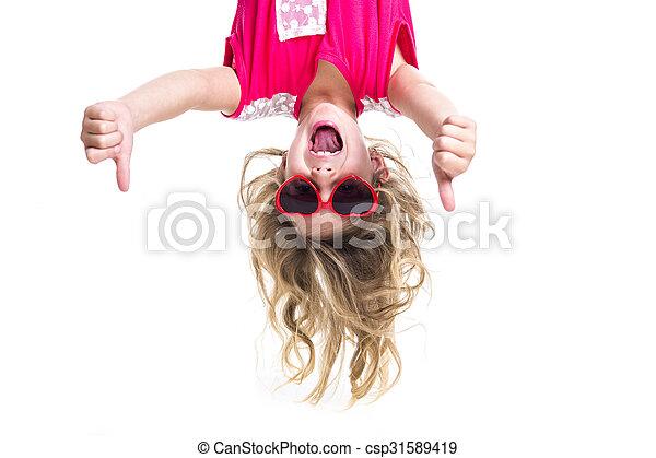 Little girl upside down - csp31589419