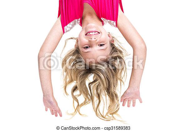 Little girl upside down - csp31589383