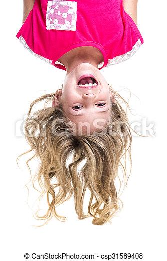 Little girl upside down - csp31589408