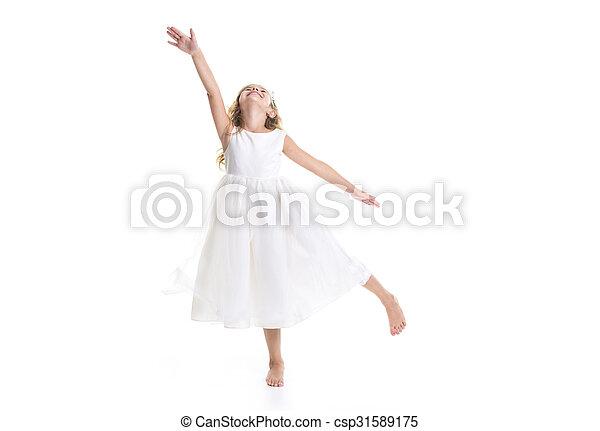 Little girl white dress - csp31589175