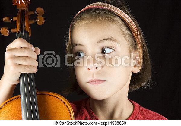 little girl with piggy bank - csp14308850