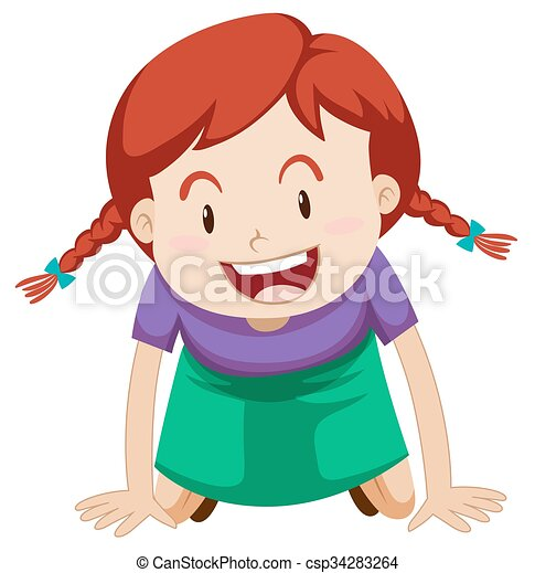 little girl with red hair illustration clip art vector search rh canstockphoto com little girl clipart black and white little girl clipart black and white