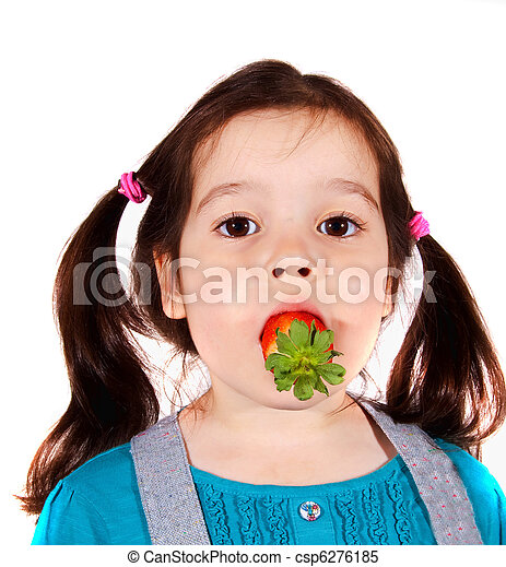 little girl young mouth