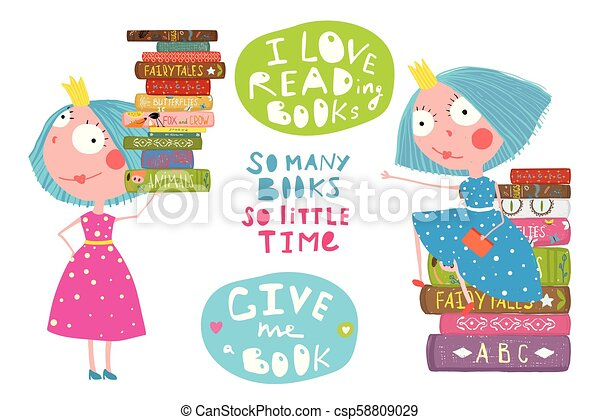 Little Girls Love Reading Books Quotes