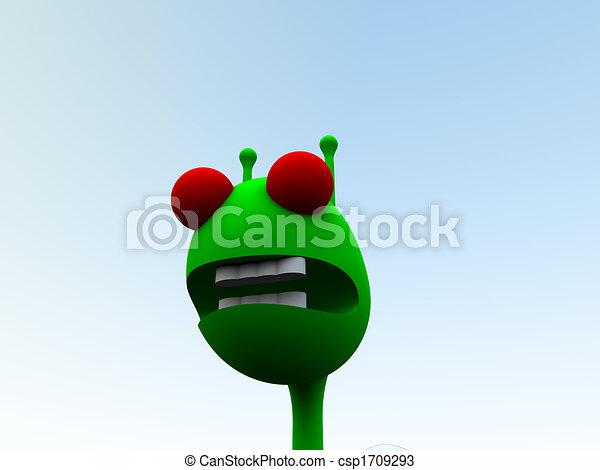 Little Green Man  - csp1709293